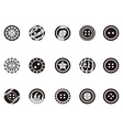 Black Clothing Button icons vector image