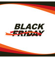 Black friday sale banner with red ribbons