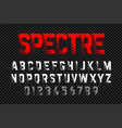 bold style font with shadow effect on transparent vector image vector image