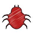 bug virus alert icon vector image vector image