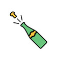 champagne flat icon sign symbol vector image