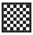 chessboard simple flat vector image vector image