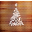 Christmas tree with colorful triangle EPS10 vector image