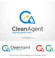 clean logo template vector image