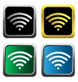 Colorful wifi icons for business or commercial use vector image vector image