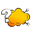 comic style question mark background with text vector image vector image