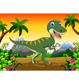 Cute dinosaur cartoon for your design vector image vector image