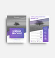design white modern brochure with diagonal place vector image vector image