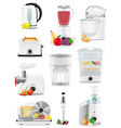 electrical appliances for the kitchen 02 vector image