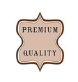 elegant badge seal tag premium quality icon stock vector image