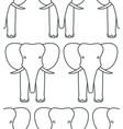 elephant face contour pattern vector image