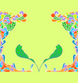 floral art pattern doodle style vector image vector image