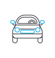 front of the car thin line stroke icon vector image vector image
