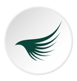 Green wing icon flat style vector image vector image