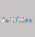 group arabic doctors hospital communication making vector image vector image