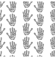 Hand drawn handprints seamless pattern vector image vector image