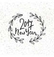 Happy New Year 2017 modern lettering design New vector image vector image