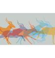 Herd running vector image vector image