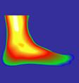 human leg thermal imager vector image vector image