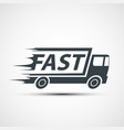icon truck cargo delivery stock vector image
