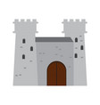 isolated medieval castle icon vector image