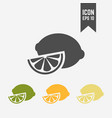 lemon isolated colored icon vector image vector image