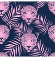 Leopard with palm leaves pattern vector image