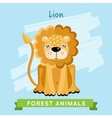 Lion forest animals vector image vector image