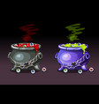 magic potion with eyes happy halloween witches vector image