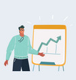 man with a flip chart vector image vector image