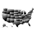 map united states america with post codes vector image