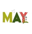 May month name vector image