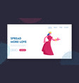 medieval royal person website landing page vector image vector image