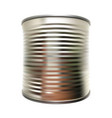 metal tin can on white isolated background vector image
