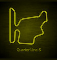 mountain rally drive circuit outline vector image vector image