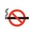 no smoke ban on smoking sign black smoking vector image