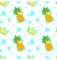 pattern with pineapple and crown vector image vector image