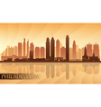Philadelphia city skyline detailed silhouette vector image vector image