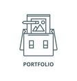 portfolio line icon linear concept vector image vector image