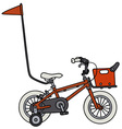 Red small child bike vector image vector image