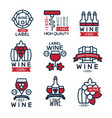 red wine vintage labels set collection of vector image