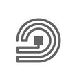 rfid and wireless tag line icon vector image vector image