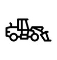 road repair machine icon outline vector image vector image