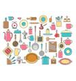 rustic kitchen utensils set vector image vector image