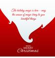 santa claus beard with message for chrismas vector image