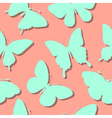 seamless background with butterflies silhouettes vector image vector image