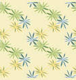 seamless herbal pattern with daisy geometric vector image vector image