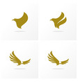 set eagle logo design simple eagle logo vector image
