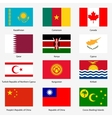 Set Flags of world sovereign states Set n vector image vector image
