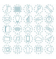 set mobile app icons vector image vector image